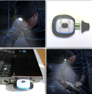 Rechargeable Headlight Beanie