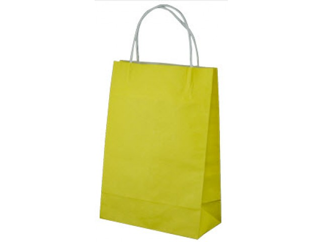 Twist Handle Paper Bag YELLOW Carton/250