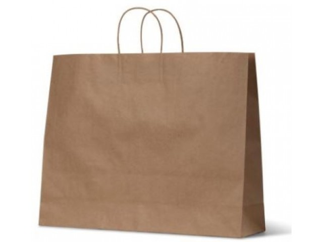 Twist Handle Paper Bag KRAFT (Large Landscape) Carton/250