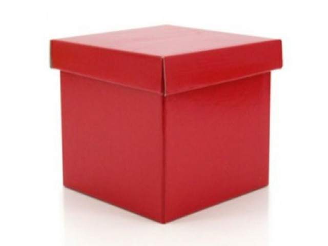 Gift Box & Lid (Gloss) Red Pack/10