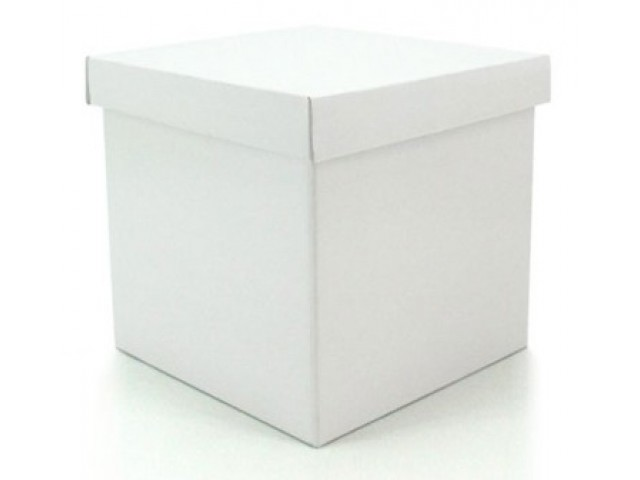 Gift Box & Lid  (Gloss) White Pack/10