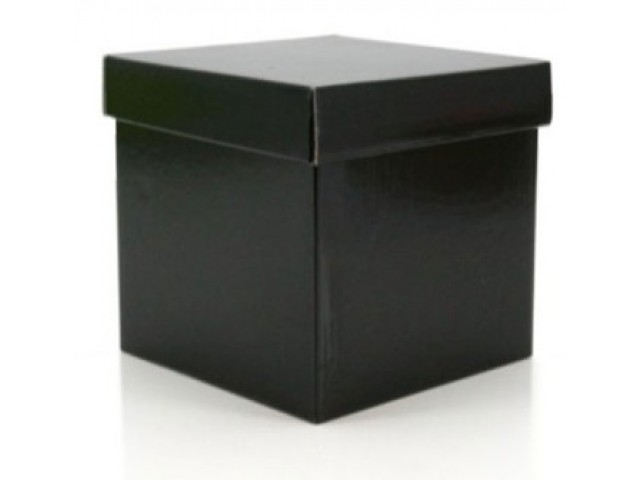 Gift Box & Lid (Gloss) Black Pack/10