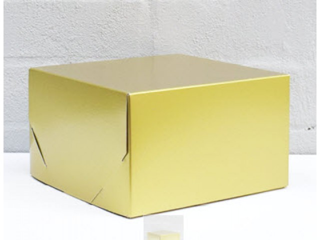 2 Piece Gift Box Metallic Gold