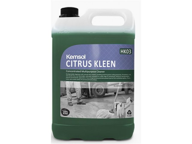 Citrus Kleen (Biodegradable) Concentrated Multipurpose Cleaner 5L (HK03)