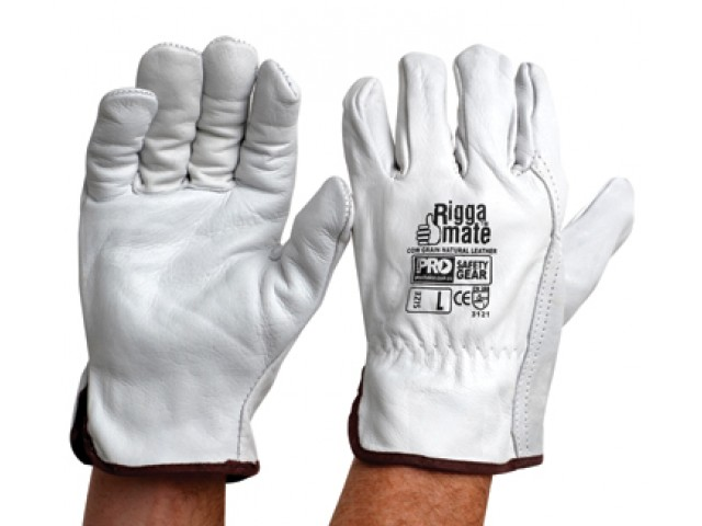 Riggamate Cow Grain Natural Leather Glove - XXL