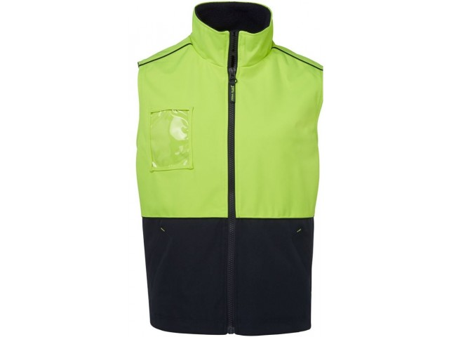Hi Vis Vest (Fleece Lined) Day Only - LIME/NAVY