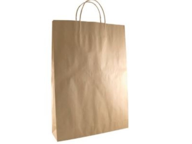 Twist Handle Paper Bag KRAFT Carton/250