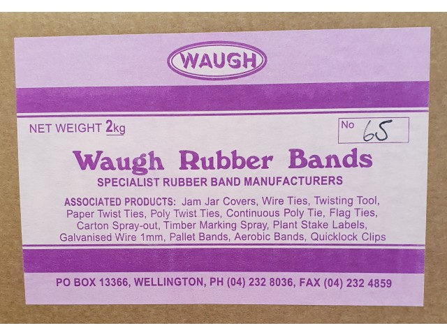 No 65 Rubber Bands (2KG Box)