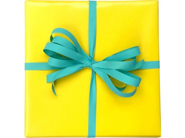 YELLOW Gift Wrap Solid Print (80gsm) 500mm x 50m Roll