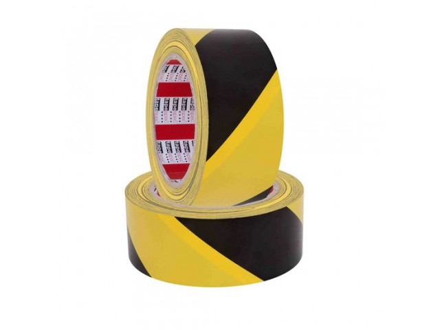 Heavy Duty PVC Safety/Hazard Tape YELLOW/BLACK