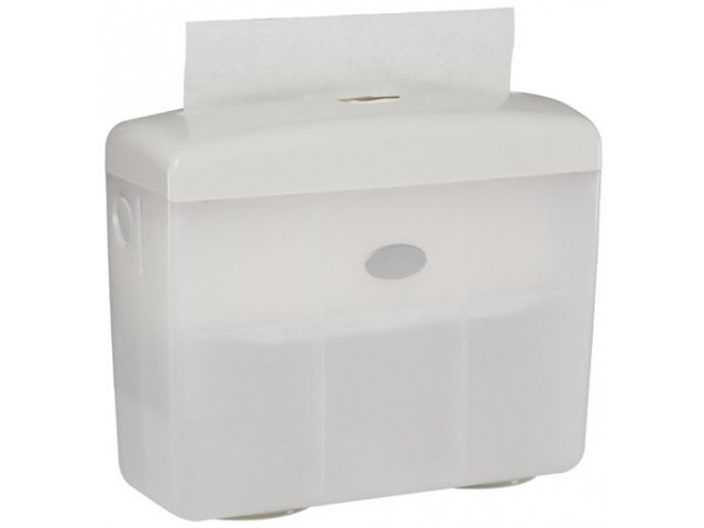Table Top (Pop Up) Hand Towel Dispenser WHITE
