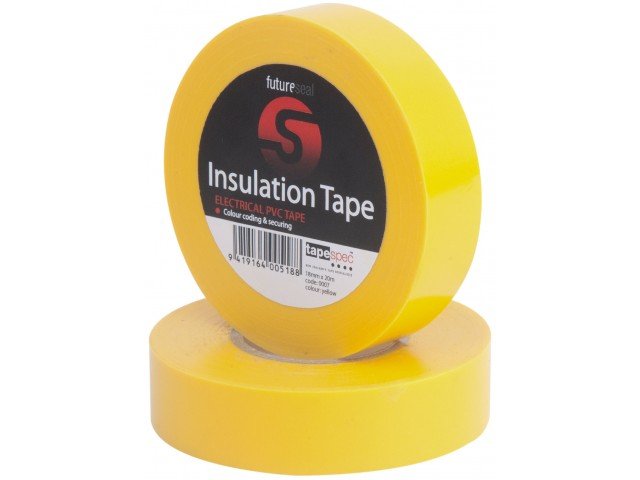 PVC Insulation Tape (YELLOW) 18mm x 30m Roll