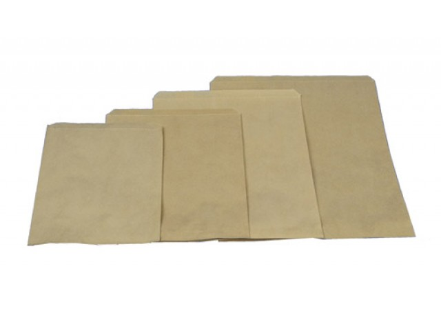 No 12 Flat Brown Paper Bag Pack/500