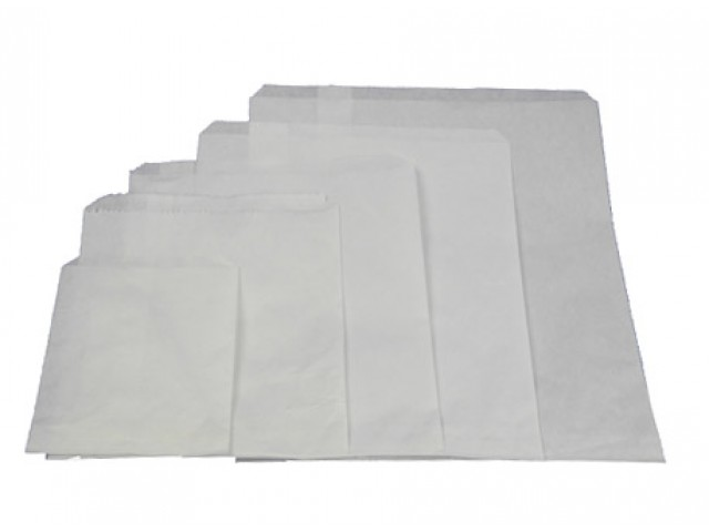 No 1 Flat White Paper Bag Pack/1000