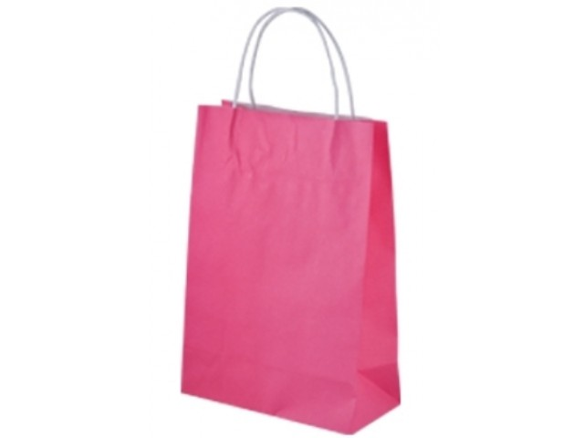Twist Handle Paper Bag PINK Carton/250