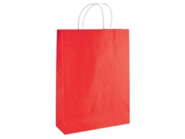 Twist Handle Paper Bag RED Carton/250