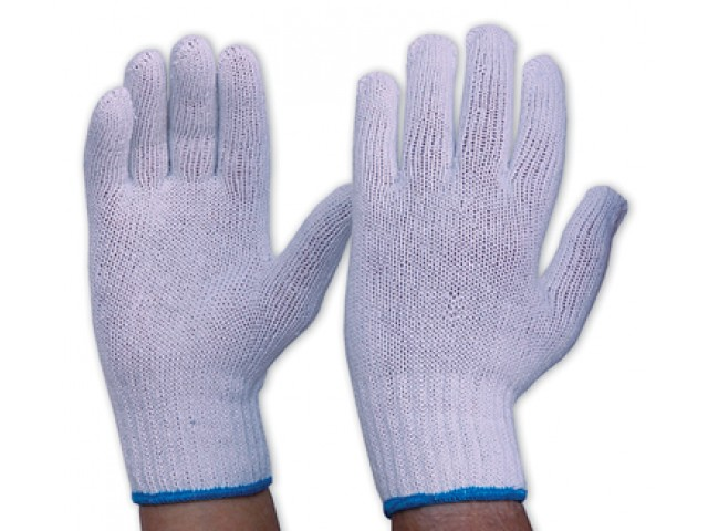 Gloves Interlock Poly/Cotton (Pack 12 Pairs)
