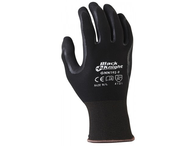 Black Nitrile Hydropellent Palm Gloves