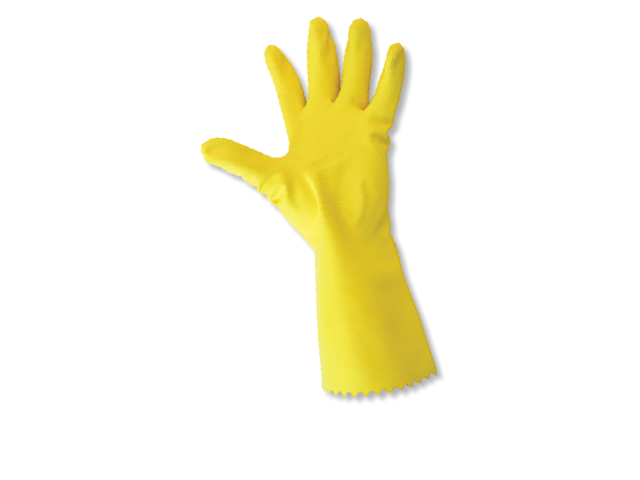 Medium Yellow Household Rubber Gloves (Pack/10)
