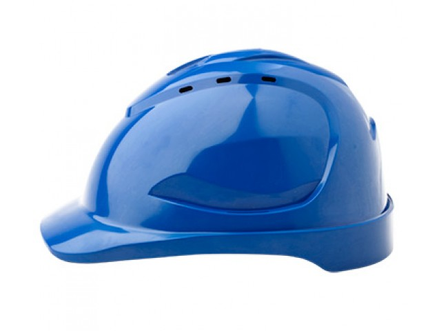 V9R Vented Hard Hat with Ratchet Harness BLUE