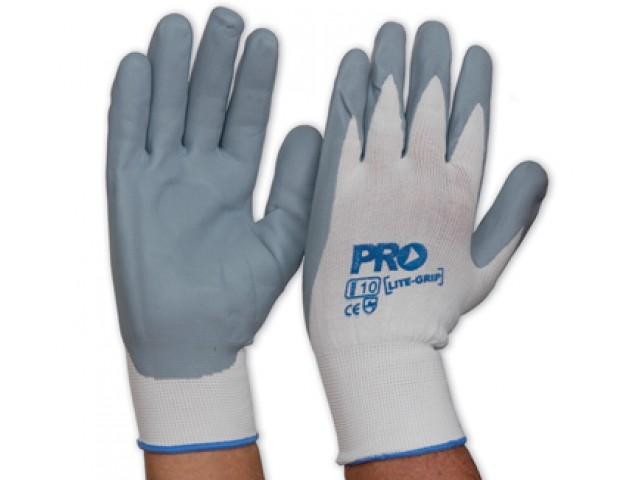 LiteGripe Nitrile Foam Palm Gloves