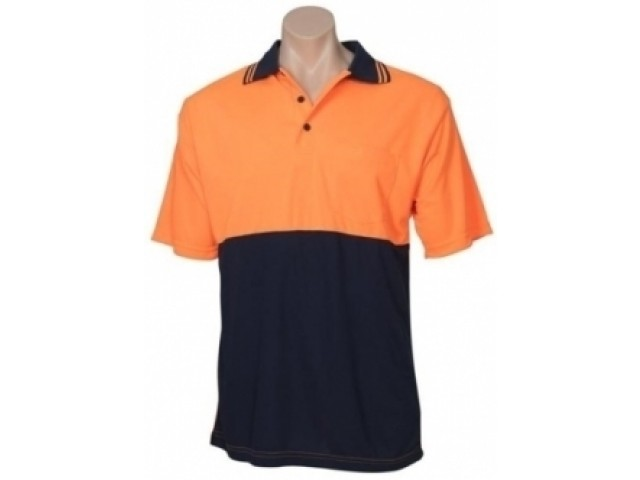 Sou Wester Orange/Navy Polo - Medium